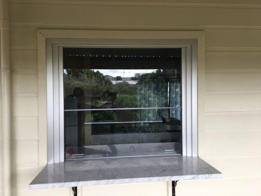 External servery window